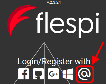 flespi login email button