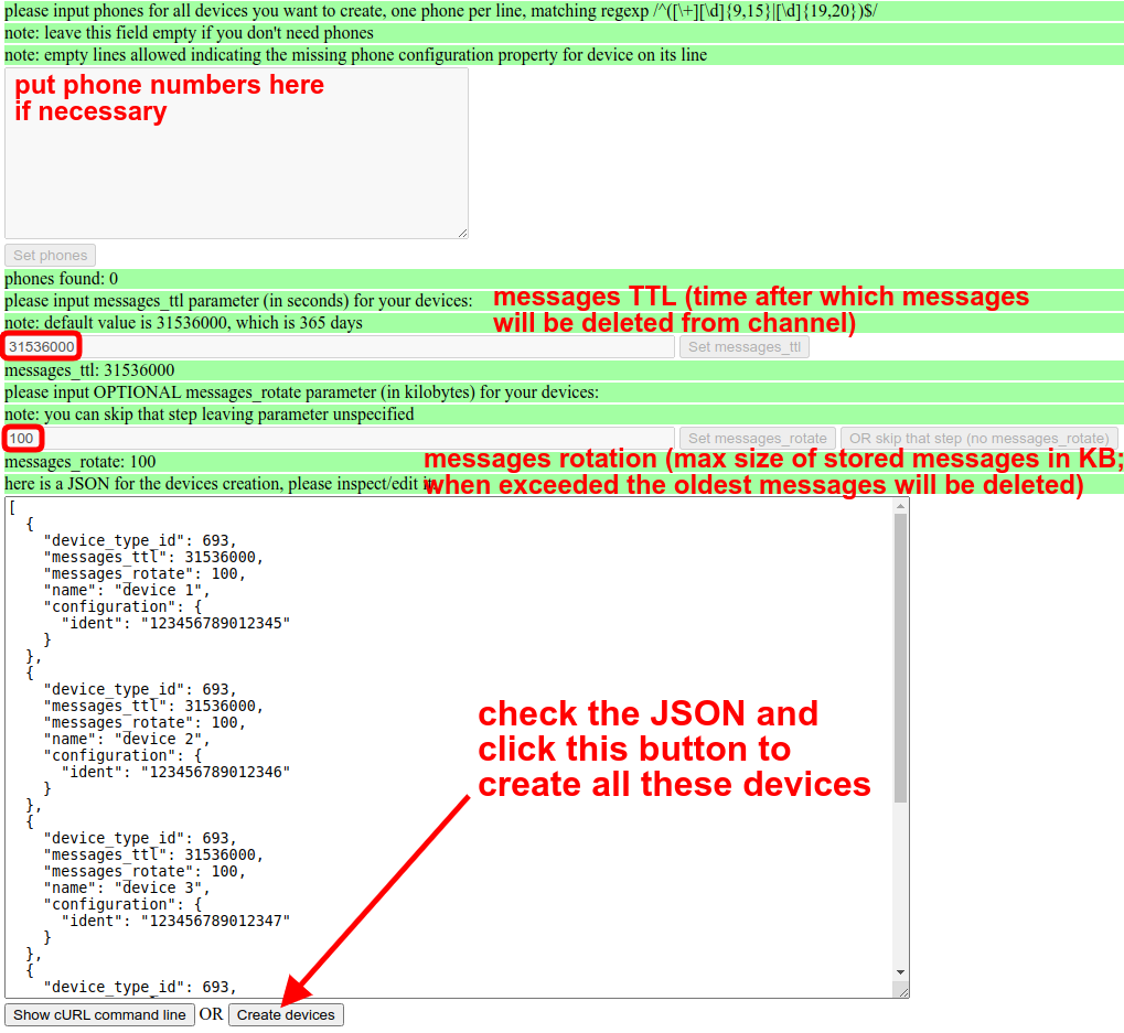 check json and create flespi devices automatically