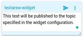 mqtt tiles text area widget