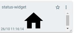 mqtt tiles status indicator widget