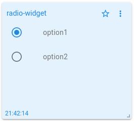 mqtt tiles radio button widget