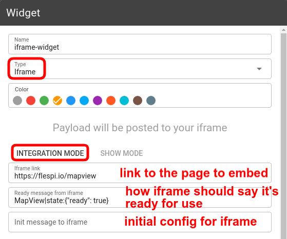 mqtt tiles iframe widget config