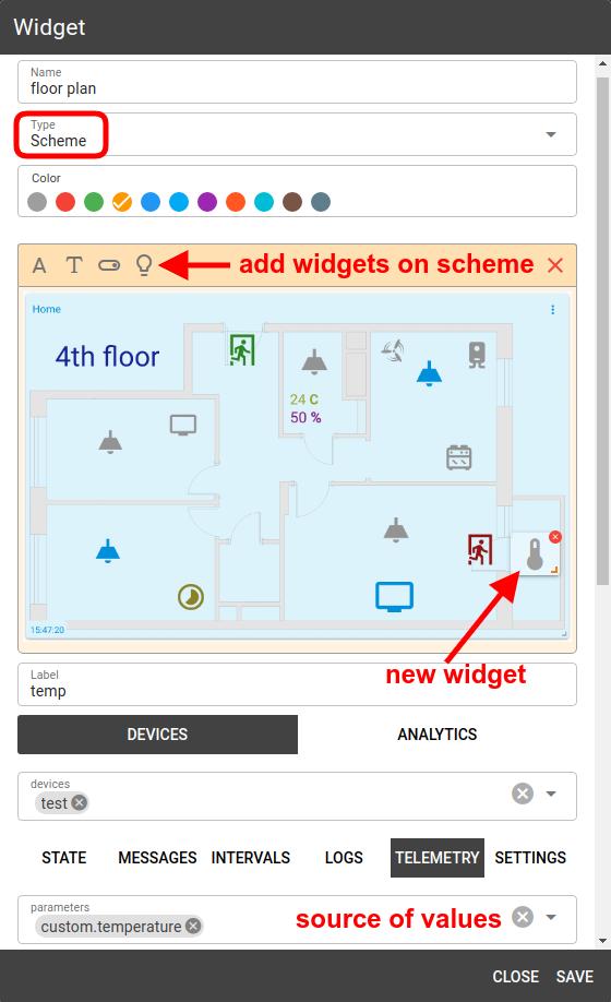 mqtt tiles scheme widget