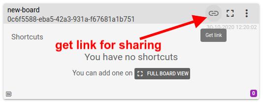 mqtt tiles get link for sharing