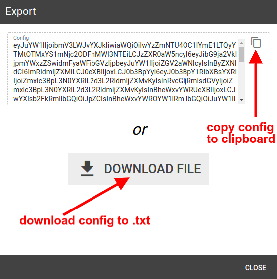 mqtt tiles copy or save config file