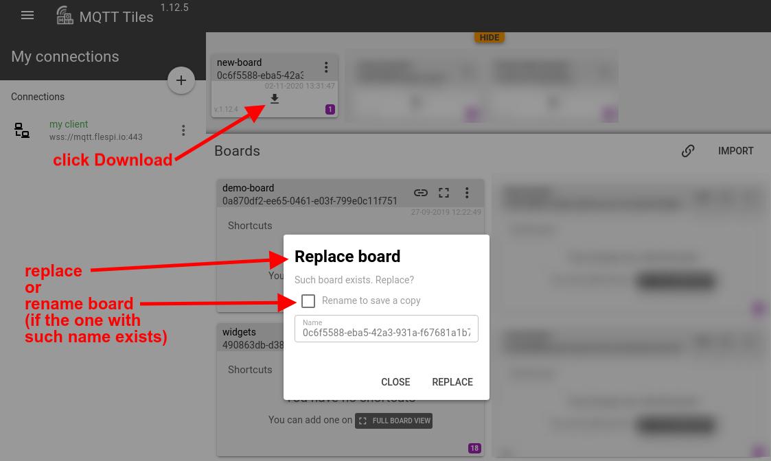 mqtt tiles download board