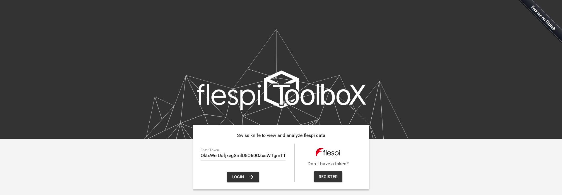 flespi toolbox login screen