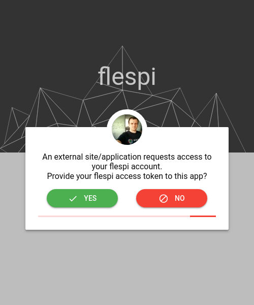 allow access to flespi token