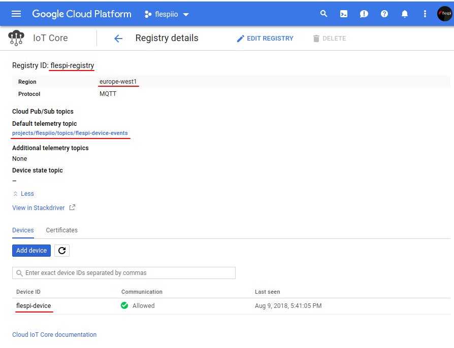 google cloud registry