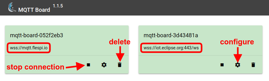 mqtt board connections