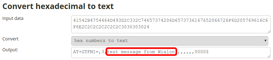 wialon command hex to text