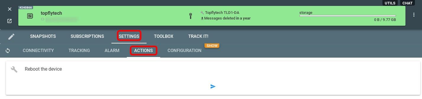 topflytech configurator flespi actions
