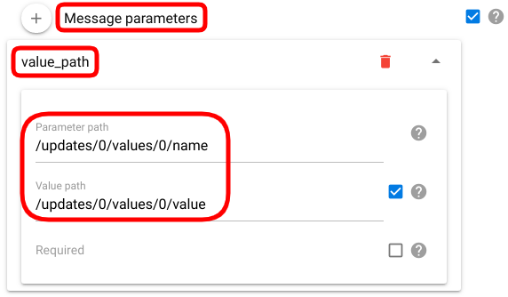 mqtt channel parameter mapping value path