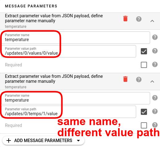 flespi mqtt channel message parameters fall back scheme