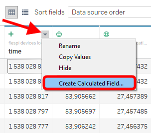 create calculated field for date time