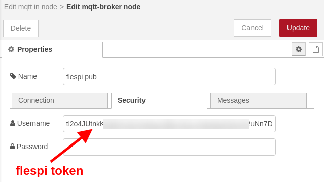 node-red flespi mqtt broker authentication