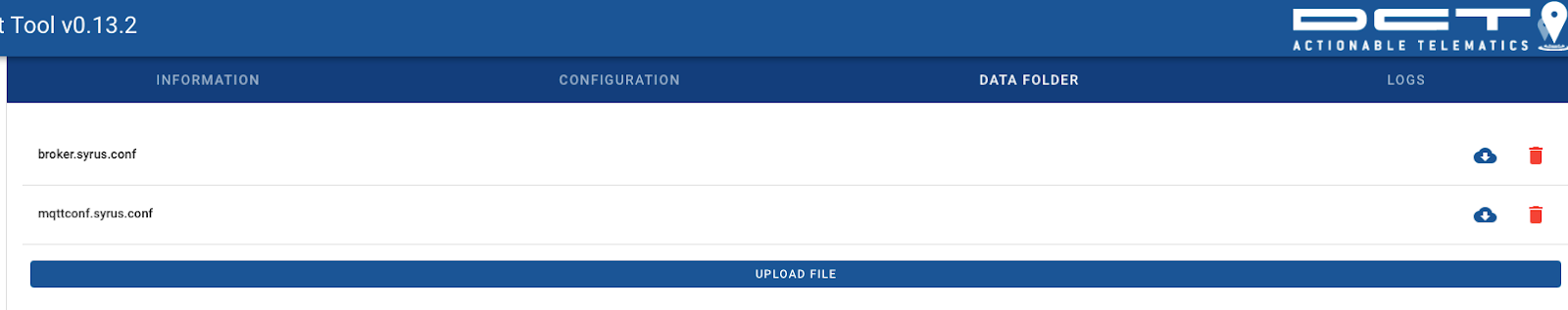 syrus 4 management tool loading files