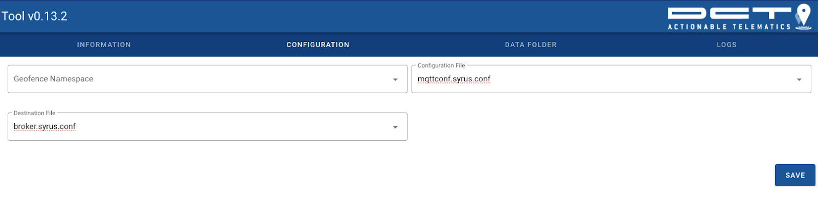 syrus 4 management tool configuration and destination file