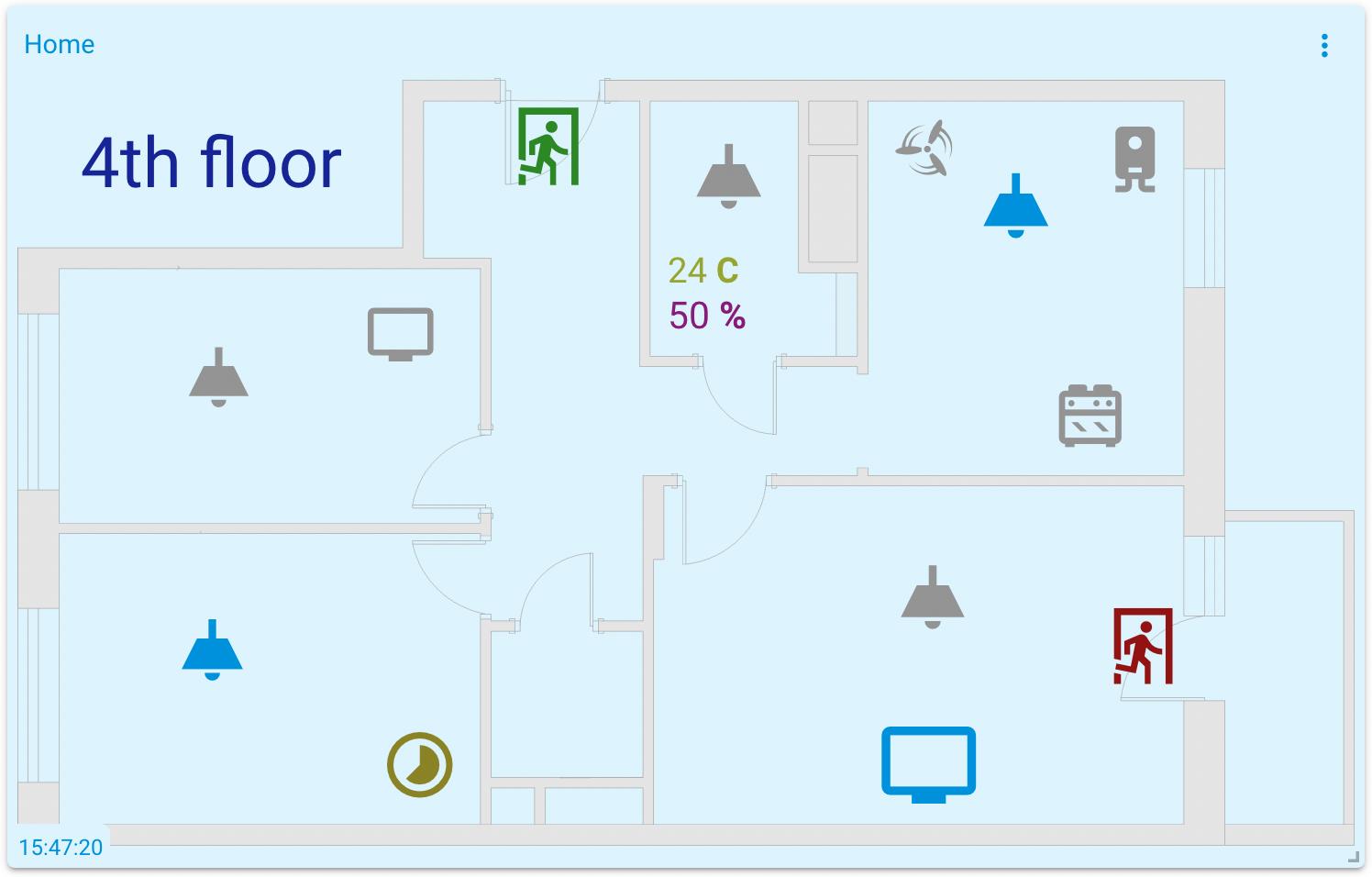 mqtt tiles scheme widget floor plan visualization