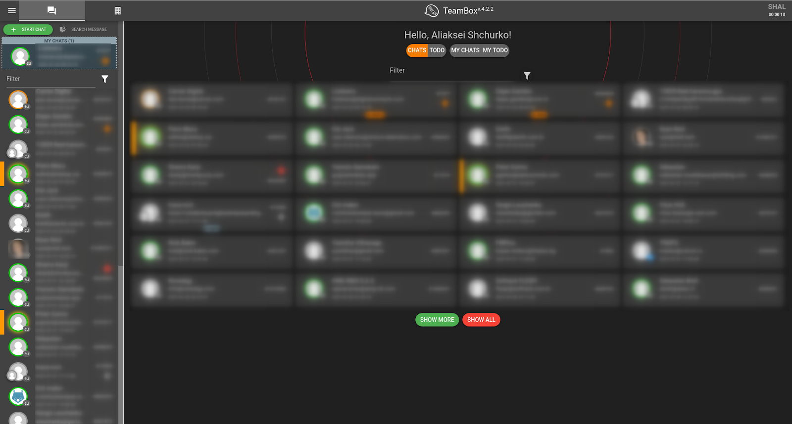 flespi teambox support interface