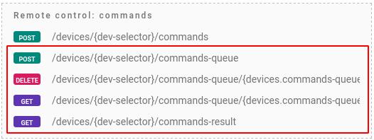 flespi device commands queue