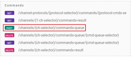 flespi command queue device
