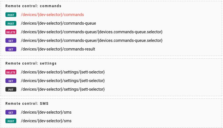 flespi devices commands
