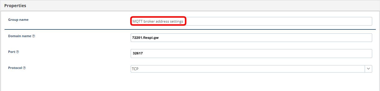 mqtt broker address settings xirgo